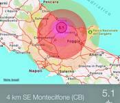 TERREMOTO VIOLENTO di magnitudo 5.2 a Montecilfone (CB) 16/08/2018 ore 20:19