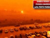 Meteo: SABBIA ROSSA dal SAHARA e PIOGGIA ROSSASTRA sulle GITE PASQUALI. Ecco DOVE, città coinvolte