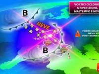 METEO: per TUTTA la SETTIMANA Gelo e NEVE a RIPETIZIONE da NORD a SUD in pianura, ecco i DETTAGLI