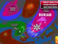 Meteo: arriva il BURIAN, facciamo DEFINITIVAMENTE CHIAREZZA su QUANDO arriverà