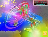 Meteo: dal WEEKEND Sabato 25 - Domenica 26 AGOSTO al 2 SETTEMBRE, LINEA DIRETTA con la SCANDINAVIA, giù 15°C