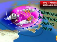 Meteo > Dal 1° APRILE clamorosa SBERLA POLARE. TEMPORALI, NUBIFRAGI, VENTO e NEVE per giorni. Ecco i DETTAGLI