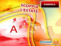 Meteo: DOMENICA, è imminente un'ondata di CALDO ESTIVO sull'ITALIA, CLIMA ROVENTE! Le PREVISIONI
