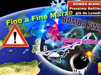 Meteo >>> PROSSIMA SETTIMANA già da Lunedí e fine MARZO BOMBA BIANCA con FREDDO e NEVE. Ecco DOVE