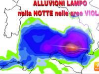 METEO AVVISO URGENTE: stanotte e Lunedì mattina ALLUVIONI LAMPO e ANOMALI NUBIFRAGI su Eolie e Sicilia