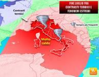 METEO: un AVVISO, FINE Luglio con SBALZI TERMICI, Italia in ALLARME per FENOMENI ESTREMI