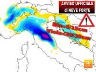Meteo: AVVISO UFFICIALE di imminente MALTEMPO con TANTISSIMA NEVE IN PIANURA. Ecco le zone colpite