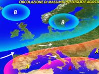 Meteo / Analisi ECMWF, estate ITALIA con temperature meno ROVENTI secondo il MODELLO EUROPEO