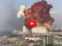 CRONACA DIRETTA VIDEO: BEIRUT, ESPLOSIONE come un BOMBA ATOMICA distrugge TUTTO, è una Strage. Ecco le IMMAGINI