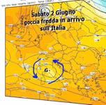 Meteo: Weekend di Sabato 2 e Domenica 3 Giugno, OCCHIO FREDDO in quota sull'Italia. Temporali e FRESCO