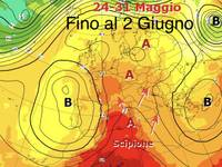 Meteo: da Giovedí 24 e Venerdí 25 DURATURA ONDA CALDA, TEMPERATURE in aumento FINO al 2 GIUGNO
