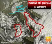 METEO PROSSIME ORE: DOMENICA Italia divisa tra il FREDDO quasi GELO e il maltempo. Ecco dove pioverà.