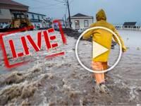 Meteo CRONACA DIRETTA VIDEO: GRAVE ALLUVIONE, sconvolte le ISOLE AZZORRE, strade come FIUMI in PIENA