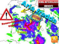 Meteo Comunicato Ufficiale URGENTE: in ATTO BOMBA METEOROLOGICA, Roma bombardata da GRANDINE, giú di 15°C