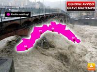 Meteo: GENOVA, AVVISO di GRAVE MALTEMPO si Attendono NUBIFRAGI tra Poche Ore su Tutta la Liguria