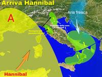 METEO / arriva HANNIBAL, sole, caldo ma anche TEMPORALI [VIDEO]