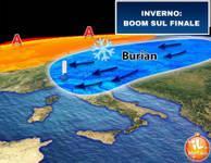 Meteo: Inverno, BOOM sul finale. NEVE e GHIACCIO nella calza della Befana, il BURIAN a Febbraio