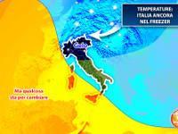 Meteo: TEMPERATURE, Italia ancora nel FREEZER, ma qualcosa sta per cambiare. Ecco i dettagli