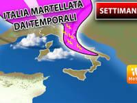 Meteo: da Martedì a Venerdì ITALIA martellata dai TEMPORALI. Ecco DOVE colpiranno per TUTTA la SETTIMANA
