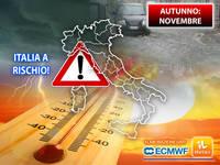 Meteo AUTUNNO: TUTTO CONFERMATO, a NOVEMBRE l'Italia sarà a RISCHIO. Le PROIEZIONI