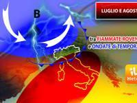 Meteo: fine Luglio e Agosto tra lunghe Fiammate Africane e intensi Break temporaleschi. Ecco l'Aggiornamento