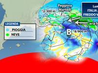 Meteo: la PROSSIMA SETTIMANA Italia in un VORTICE FREDDO. Piogge, temporali e anche NEVE