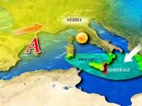 METEO ~ piogge su Sardegna, Sicilia e Calabria, altrove sole e nebbia [VIDEO]