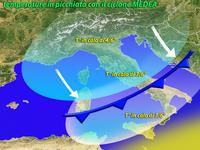 Meteo ITALIA, temperature in CALO con il ciclone MEDEA.  Ecco dove farà più FREDDO nei prossimi GIORNI