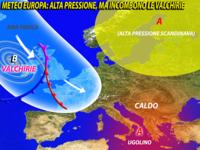 Europa -  finalmente CALDO! Ma non PER TUTTI, temporali e GRANDINE con le Valchirie da Domenica