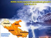 METEO | Grandine e Temporale a ROMA, oggi tra le 18 e le 21