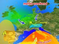 METEO ~ un Weekend ricco di Temporali al Nord e Caldo Africano al Centro-Sud!
