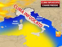 Meteo: CLIMA INFUOCATO e MARE FREDDO. Ecco cosa sta succedendo e quali sono le CONSEGUENZE
