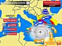 METEO: rischio MEDICANE (MEDIterranean HurriCANE) da Giovedì: ecco cos'è e le conseguenze sull'Italia