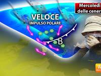 Meteo: Mercoledì delle CENERI, veloce IMPULSO POLARE con PIOGGE e NEVICATE. Ecco le PREVISIONI per la SETTIMANA