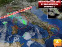 Meteo PROSSIME ORE: TEMPORALI già in atto, ma peggioramento imminente. Ecco dove pioverà di più
