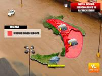 METEO: Italia nel maltempo, ancora rischio idrogeologico su alcune regioni [EVOLUZIONE]