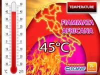 Meteo AVVISO: TEMPERATURE, imminente FIAMMATA AFRICANA fino a 45°C, MAI così CALDO! Città più ROVENTI e DURATA