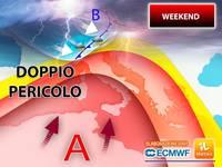 Meteo: come sarà il PROSSIMO WEEKEND? Tra SABATO 19 e DOMENICA 20 ITALIA con un DOPPIO PERICOLO! Le PREVISIONI