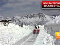 Meteo: NEVE ECCEZIONALE sul GIRO d'ITALIA, a rischio le grandi TAPPE ALPINE della corsa. Ecco la SITUAZIONE