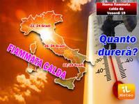 TEMPERATURE: da Venerdì 19 nuova FIAMMATA del CALDO, punte fino ad oltre 28°C. Ecco quanto durerà