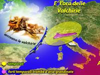METEO | piogge, temporali, grandine e trombe d'aria, arrivano le VALCHIRIE