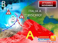 Meteo: OTTOBRE e NOVEMBRE PREOCCUPANTI, l'ITALIA sarà a RISCHIO per 2 motivi. La CONFERMA è appena ARRIVATA
