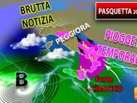 Meteo: Lunedì di PASQUETTA, una BRUTTA NOTIZIA, il tempo PEGGIORA. Ecco le REGIONI rovinate dalla PIOGGIA