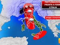 Meteo, una PERTURBAZIONE è pronta a FERIRE l'Italia. PIOGGE, TEMPORALI e NEVE. Ecco QUANDO