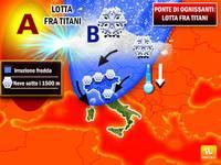 METEO: PONTE DI OGNISSANTI lotta tra Titani, Anticiclone contro Aria Polare Artica