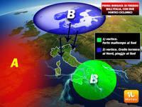 Meteo: PROSSIMA SETTIMANA con DOPPIO CICLONE, prima piogge poi FREDDO e primissime GELATE