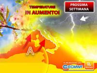 Meteo: PROSSIMA SETTIMANA, già da Lunedì TEMPERATURE in AUMENTO, l'Alta Pressione ci PROVA. La TENDENZA
