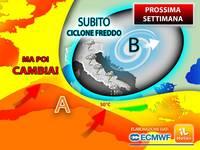 Meteo PROSSIMA SETTIMANA: subito CICLONE FREDDO, poi CAMBIA entro Venerdì 23 e più REGIONI toccheranno i 30°C