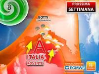 Meteo: PROSSIMA SETTIMANA, ITALIA ancora più ROVENTE, ma già da Lunedì si rischiano BOTTI TEMPORALESCHI