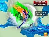 Meteo: PROSSIMA SETTIMANA, da Lunedì Nuovo VORTICE TEMPORALESCO sull'Italia. Ecco Tutte le Previsioni